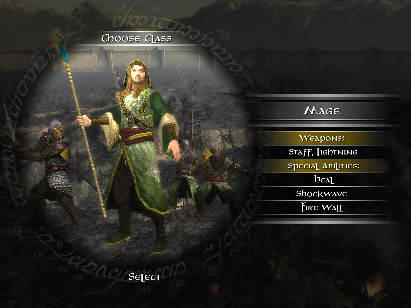 The Lord of the Rings: Conquest Windows Select your class