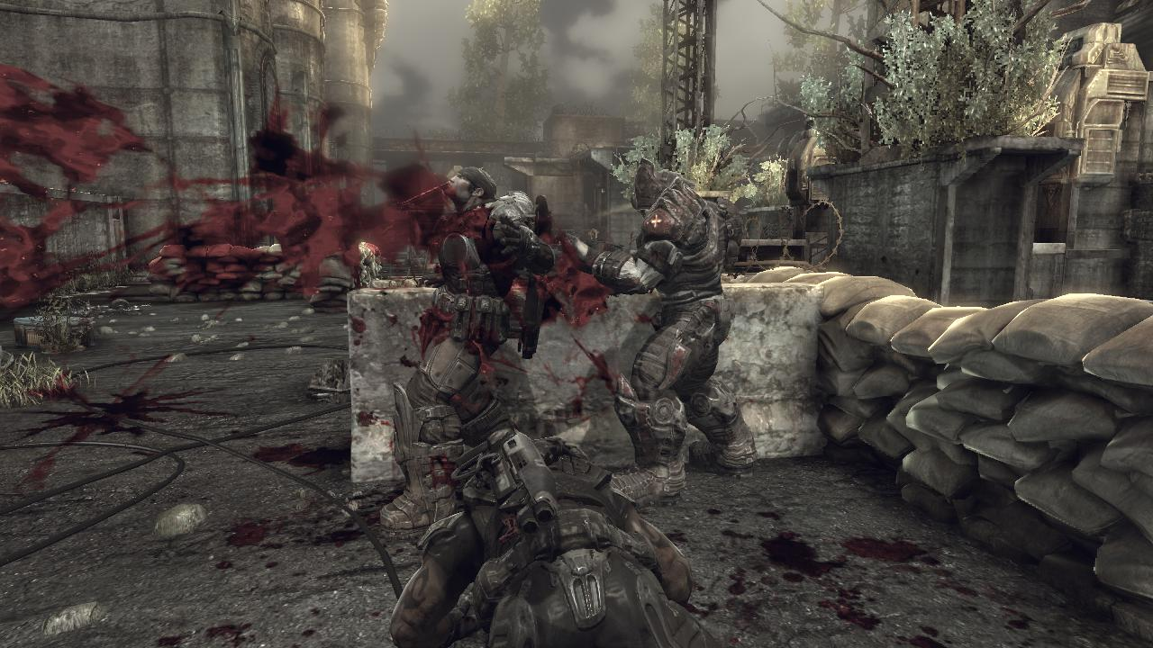 Gears of War 2 Xbox 360 Looks like the Locust Horde is going to win another match.