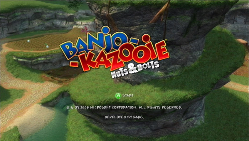 Banjo-Kazooie: Nuts & Bolts Xbox 360 Title Screen