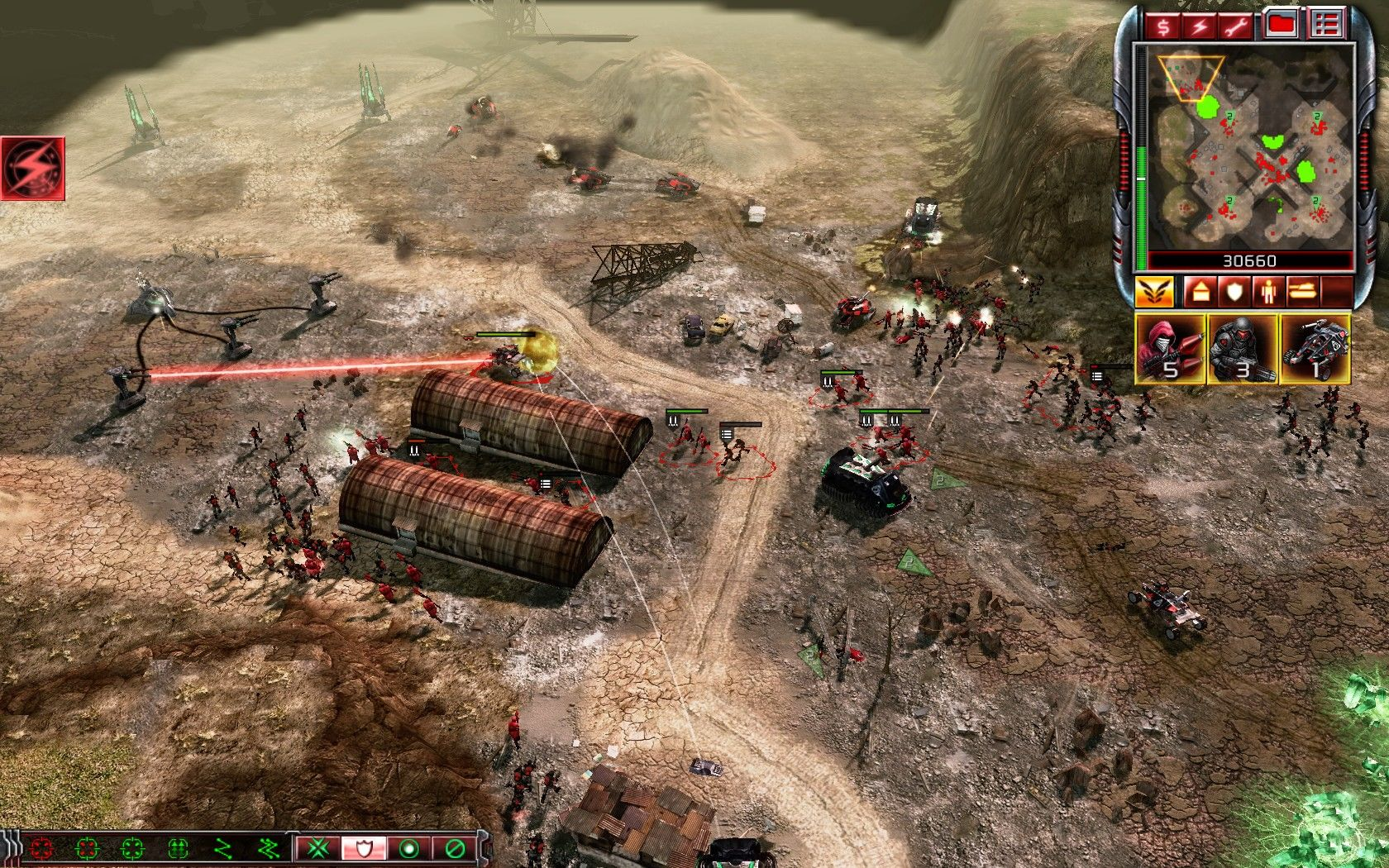Command & Conquer 3: Kane's Wrath Windows Fighting a rebellious Nod insurrection.
