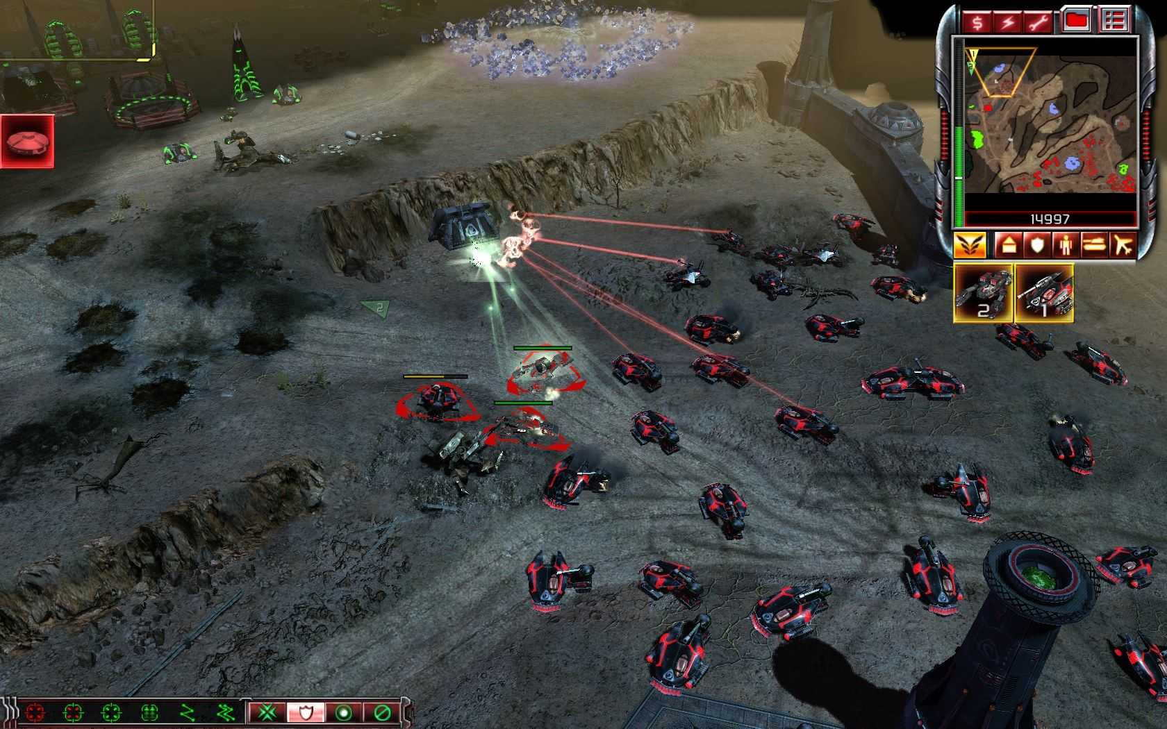 "Command & Conquer 3: Kane's Wrath Windows Good old ""tank rush"" tactic still seem to work most of the times."