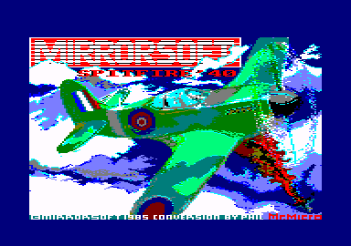 Spitfire '40 Amstrad CPC Title screen