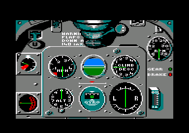 Spitfire '40 Amstrad CPC The cockpit controls.