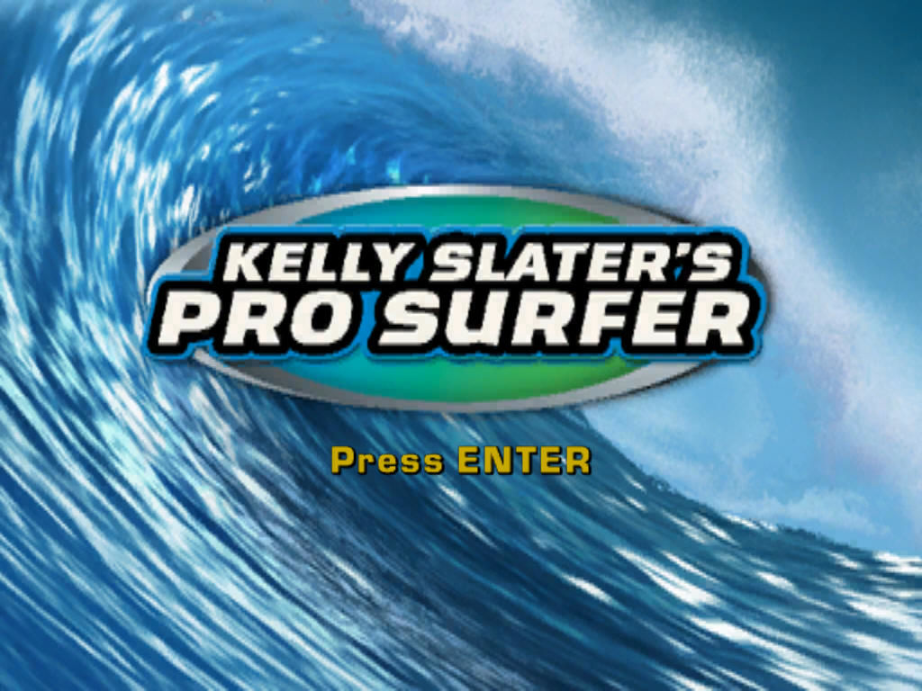 Kelly Slater's Pro Surfer Windows The title screen