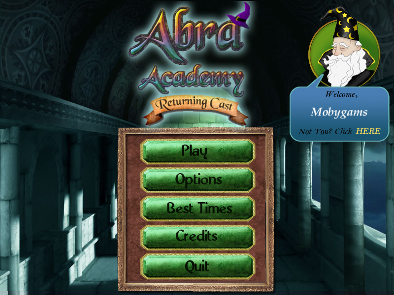 Abra Academy: Returning Cast Windows Main menu