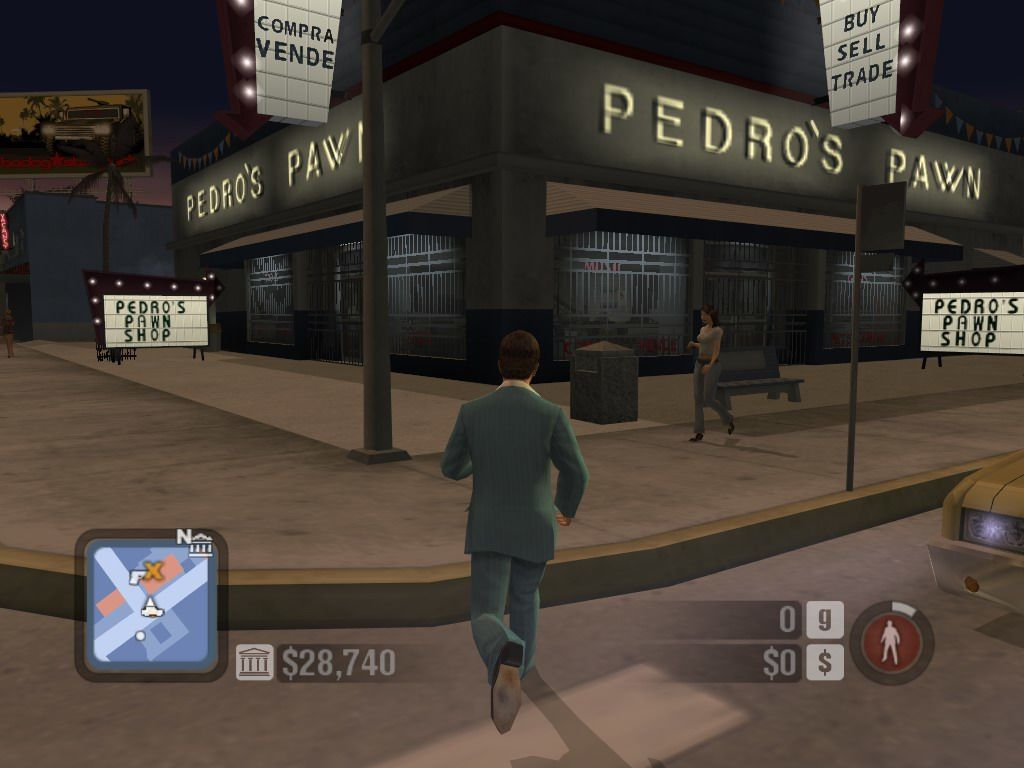 Scarface: The World Is Yours Windows Running on the streets of Miami... here is Pedro's Pawn Shop.