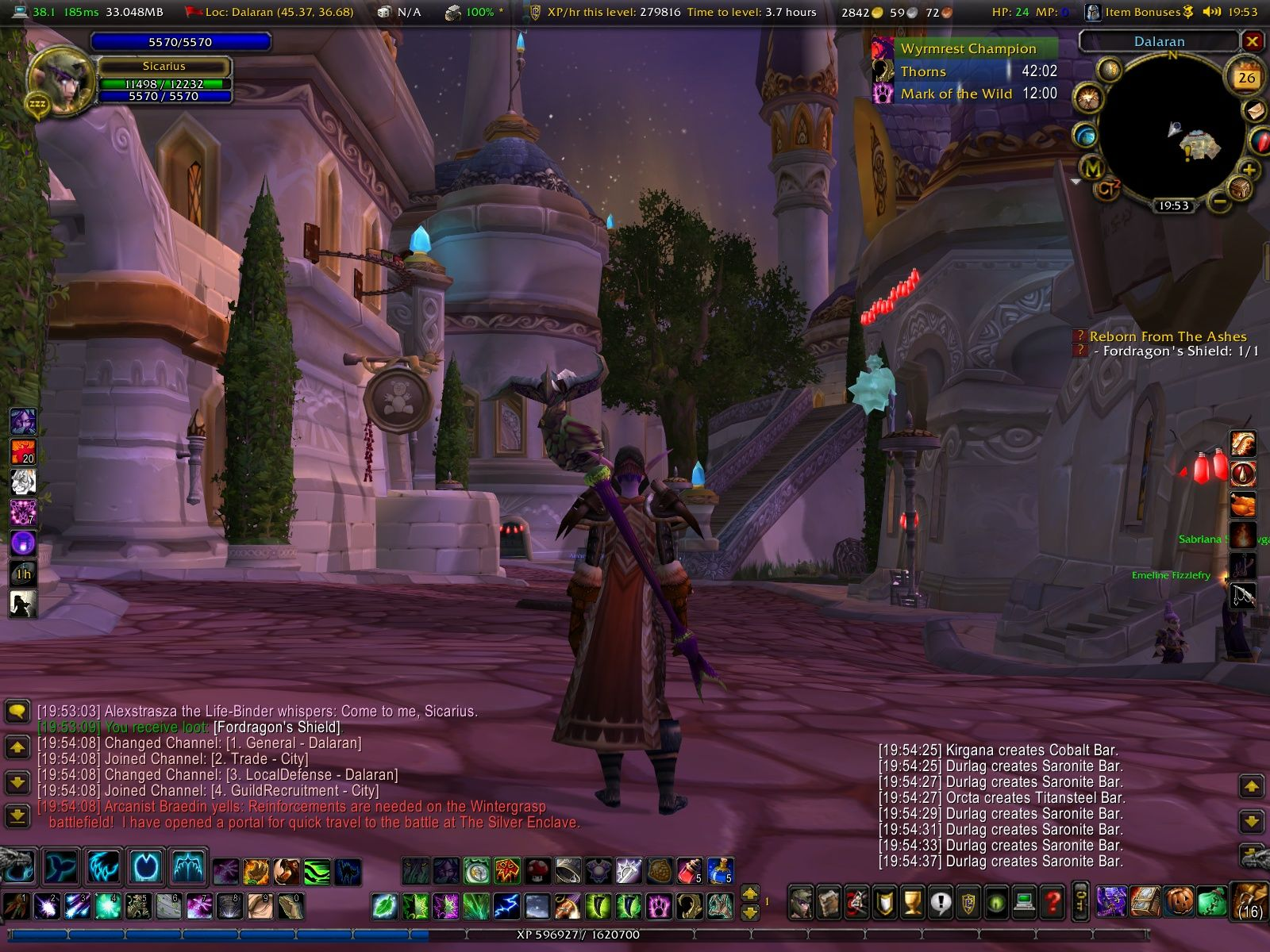 World of Warcraft: Wrath of the Lich King Windows Dalaran - City in the clouds.