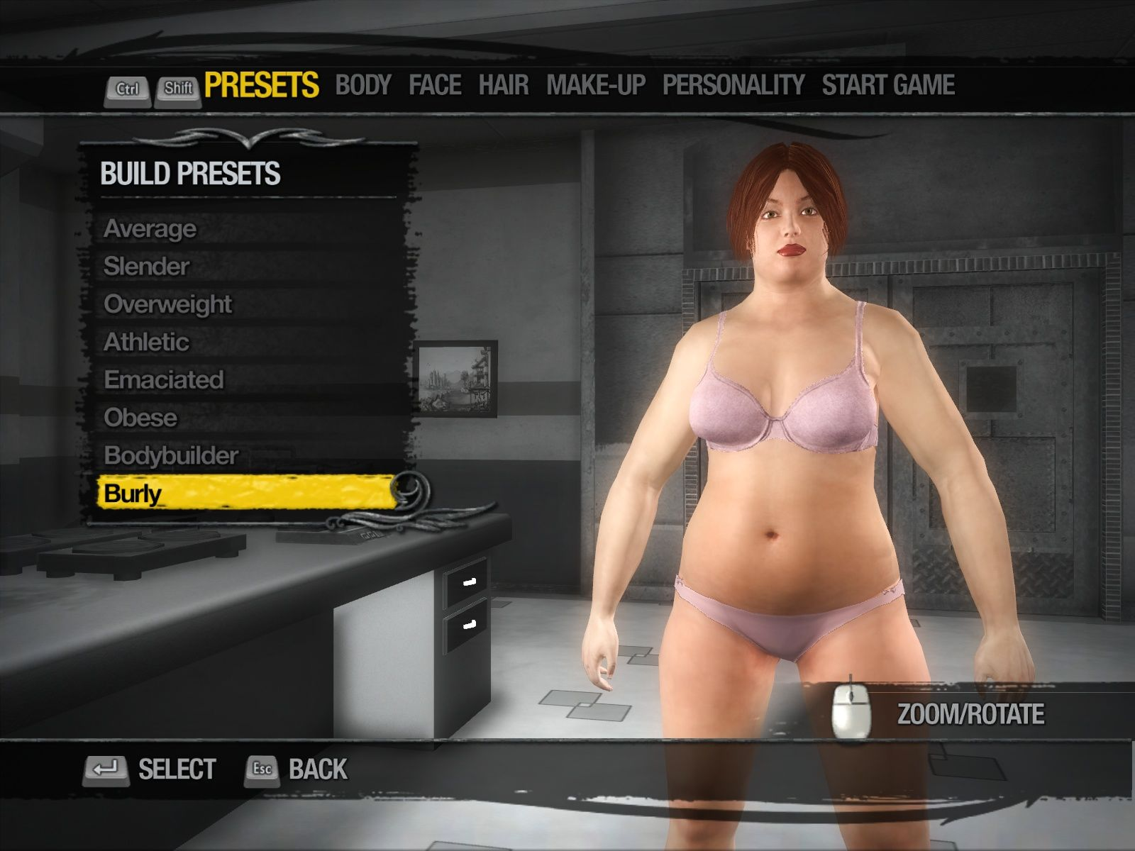 Saints Row 2 Windows Creating one very beautiful female character.