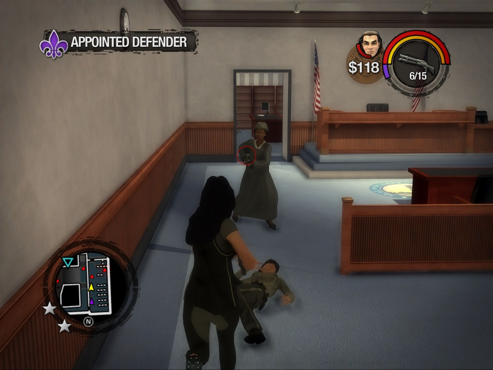 Saints Row 2 Windows Tonight on FOX: The Judge vs. The Girl in Funny Pants