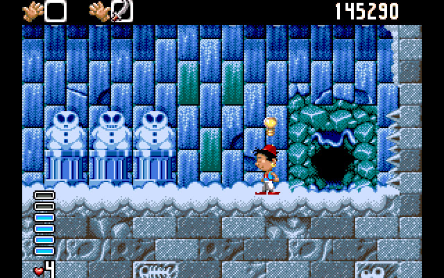 Arabian Nights Amiga Out of these snowmen, pick the evil one