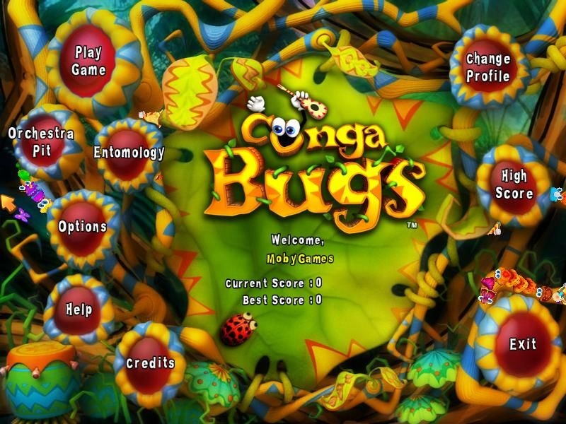 Conga Bugs Windows Main menu