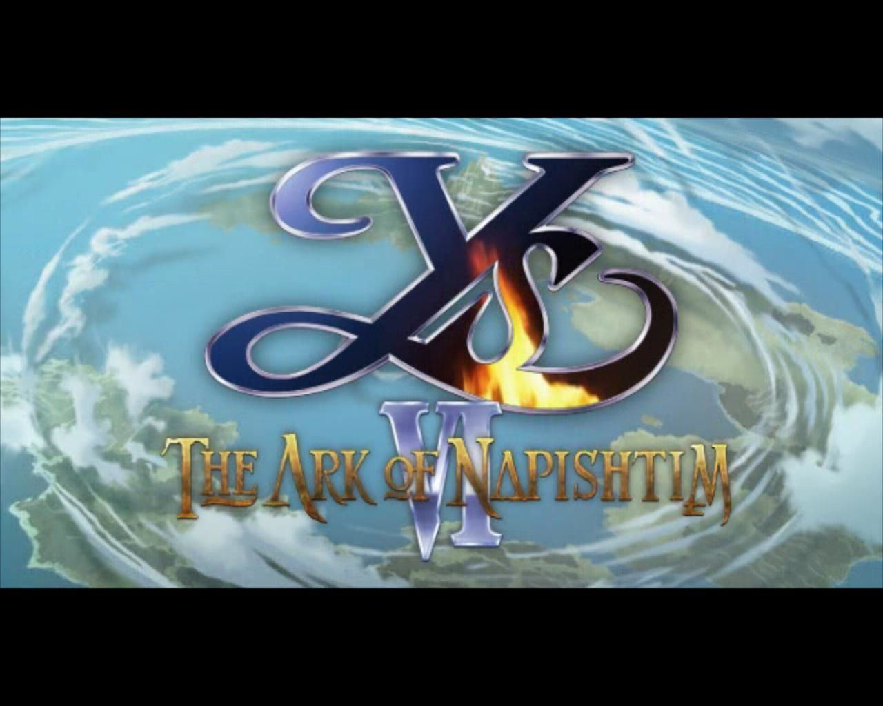 Ys VI: The Ark of Napishtim Windows Title screen