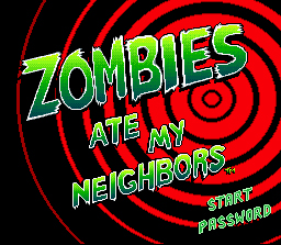 Zombies Ate My Neighbors SNES The Title Screen