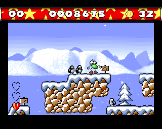 Morton Strikes Back Amiga This level requires the player to find & rescue penguins.
