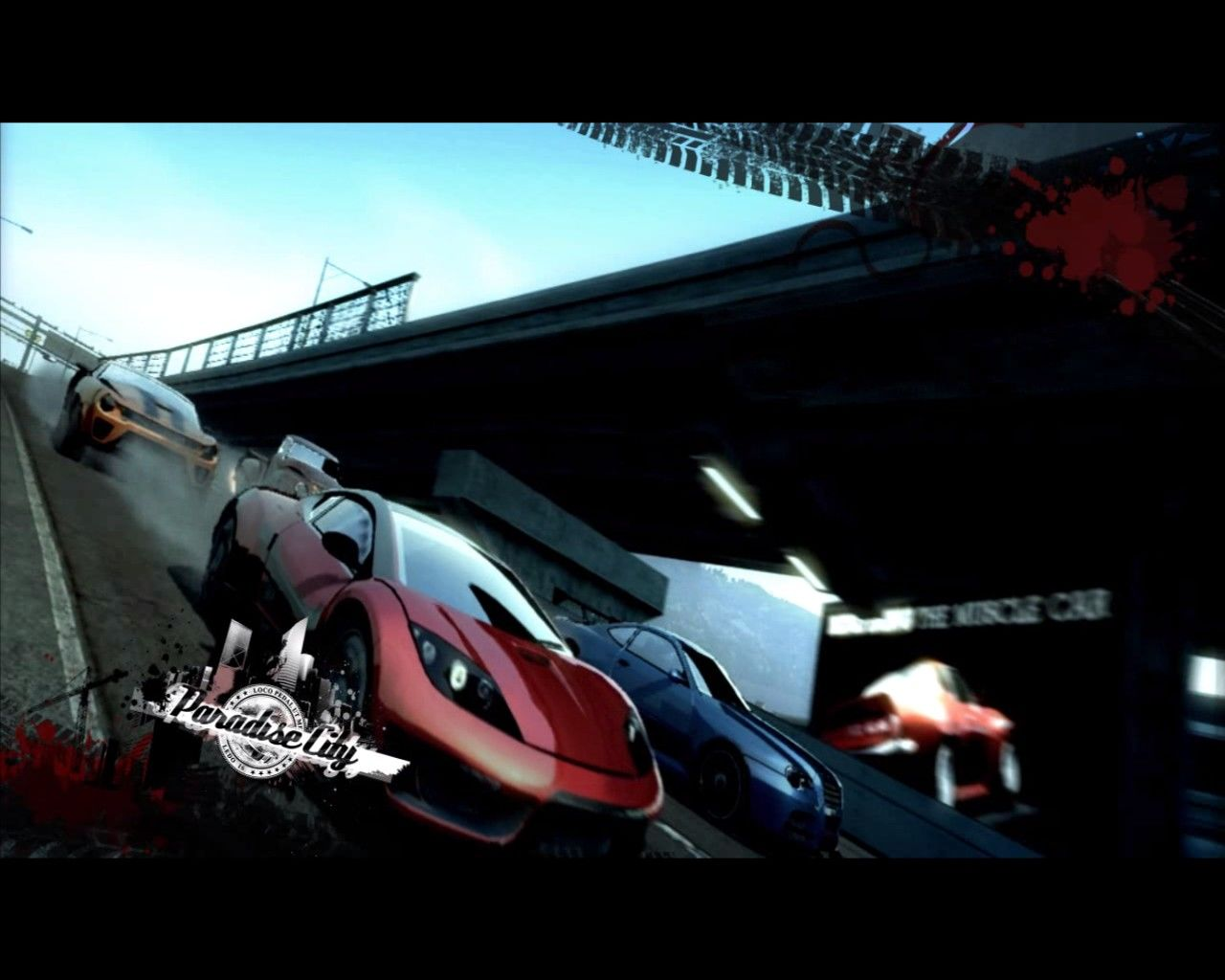 Burnout Paradise: The Ultimate Box Windows In-game screensaver