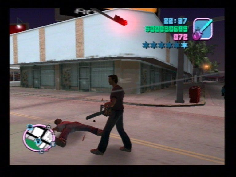 Grand Theft Auto: Vice City PlayStation 2 Chainsaw Massacre #1
