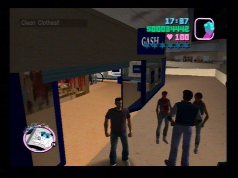 Grand Theft Auto: Vice City PlayStation 2 Visit Clothes Shops to Change Clothes