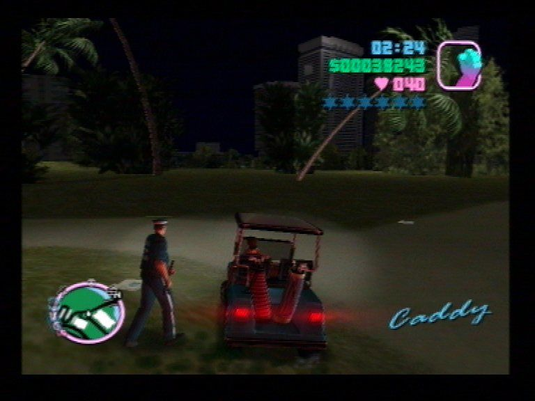 Grand Theft Auto: Vice City PlayStation 2 Golf Buggy Silliness