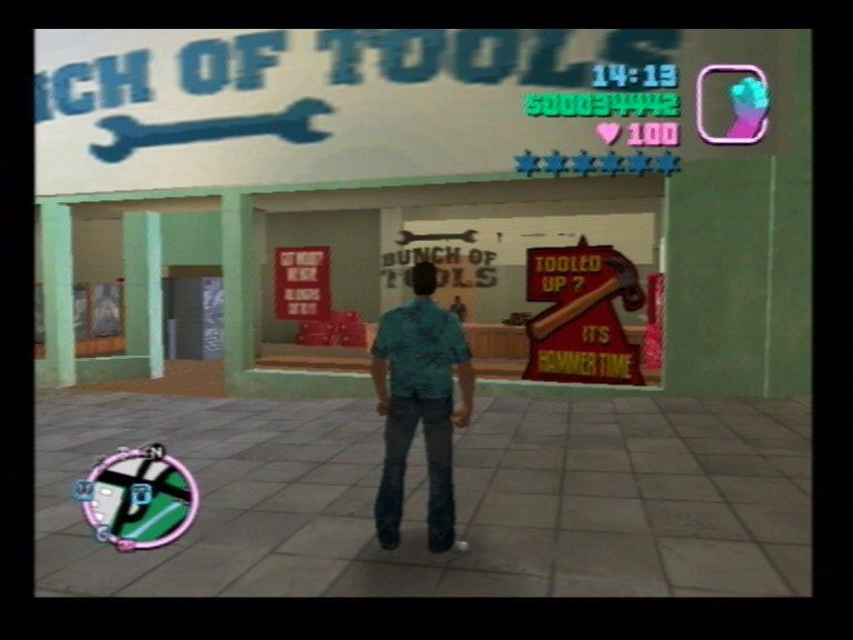 Grand Theft Auto: Vice City PlayStation 2 Hammer Time???