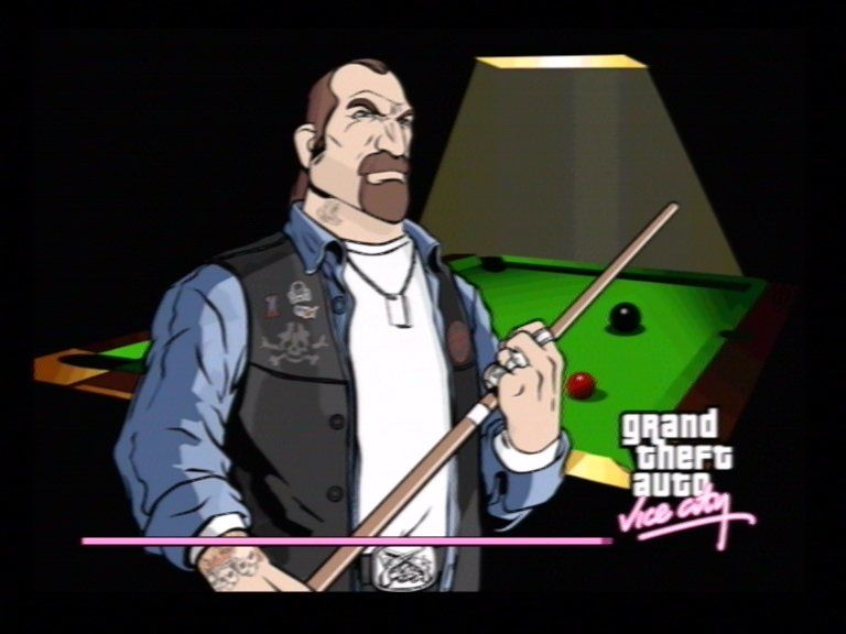 Grand Theft Auto: Vice City PlayStation 2 Loading Screens have cool artwork...