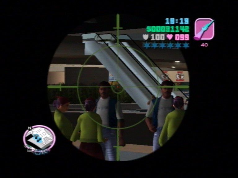 Grand Theft Auto: Vice City PlayStation 2 Sniper Rifle makes a come-back.