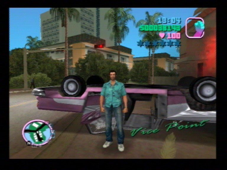Grand Theft Auto: Vice City PlayStation 2 This is where you run!