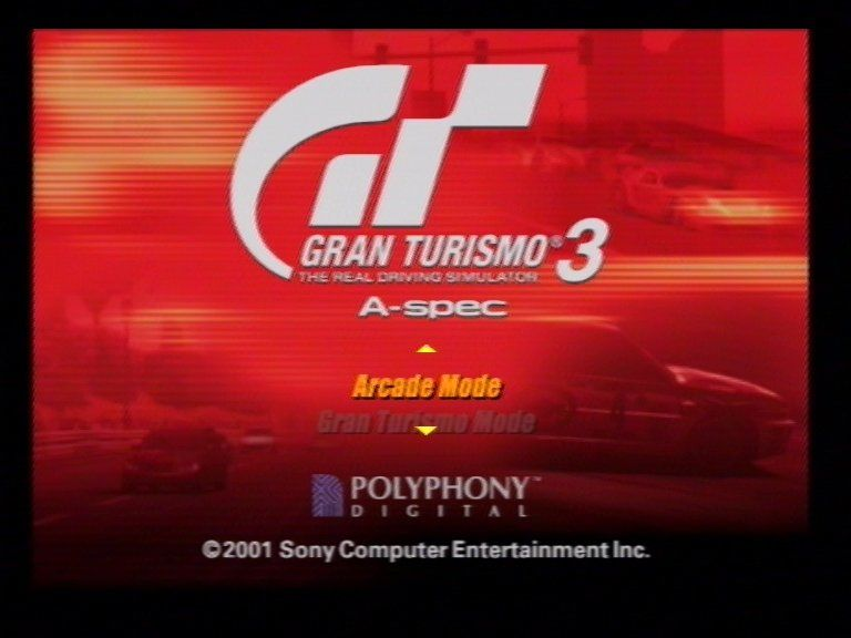 Gran Turismo 3: A-spec PlayStation 2 Title Screen