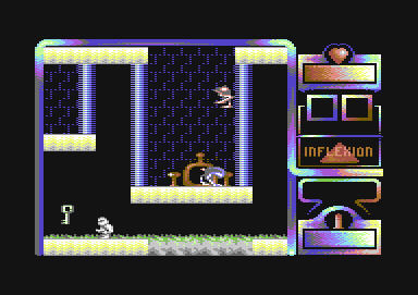 Lazarus Commodore 64 ...aaand here we are... right next to the key we have to bring back