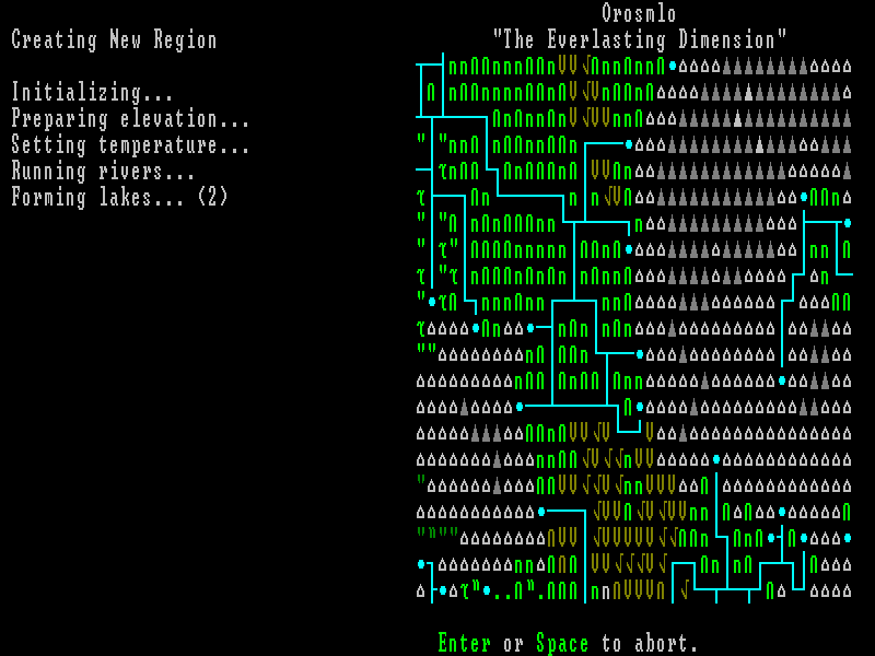 Slaves to Armok: God of Blood - Chapter II: Dwarf Fortress Macintosh Automatically generating a new world