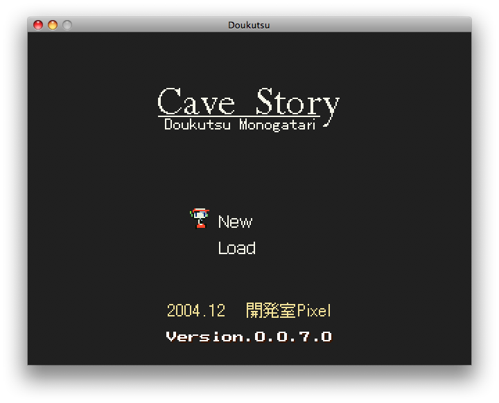 Cave Story Macintosh Title screen