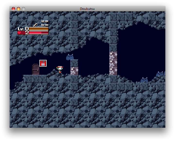 Cave Story Macintosh Encountering enemies.