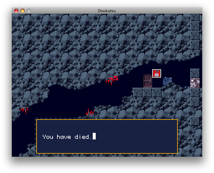 Cave Story Macintosh Dashed to bits by the spikes!