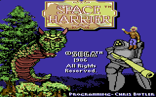 Space Harrier Commodore 64 Loading screen (Sega)