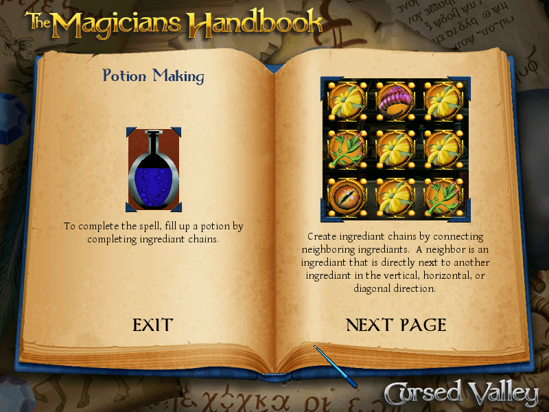 The Magician's Handbook: Cursed Valley Windows Potion mixing instructions