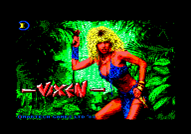 Vixen Amstrad CPC Title screen