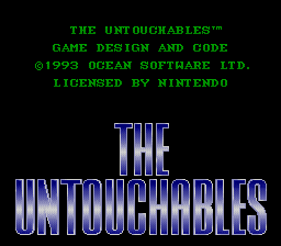 The Untouchables SNES Title screen