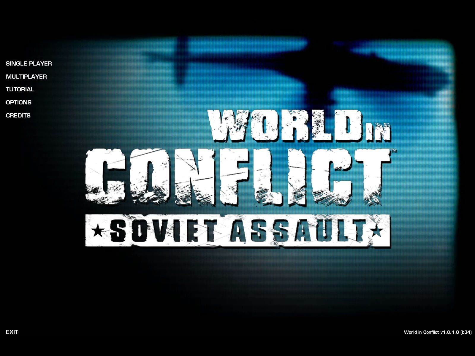 World in Conflict: Soviet Assault Windows Main menu