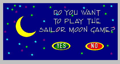 The 3D Adventures of Sailor Moon Windows Upon launching the game, we're asked if we really want to play it.
