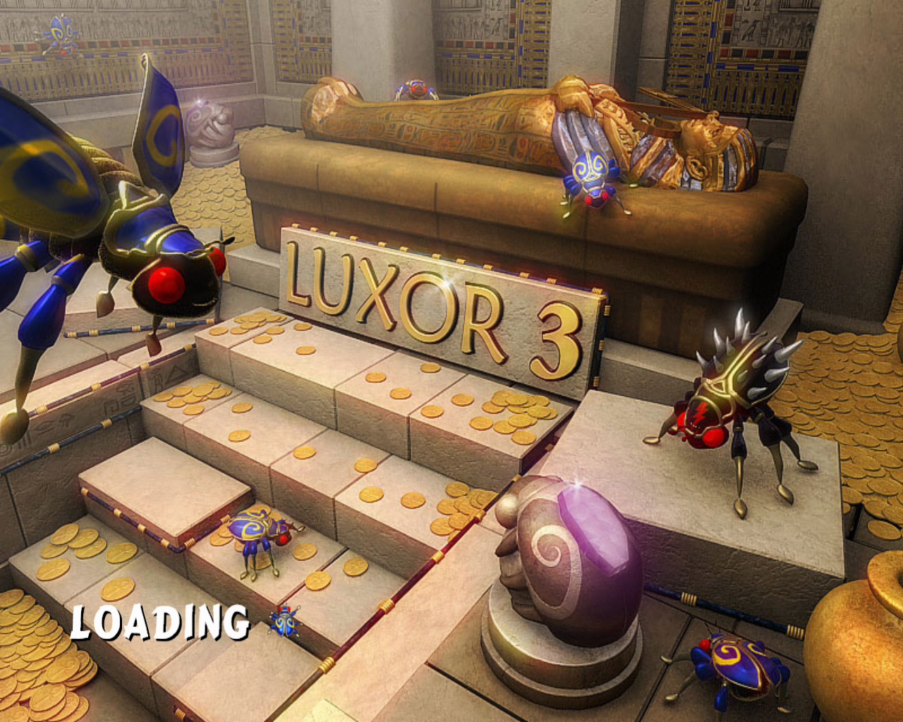 Luxor 3 Windows Loading screen