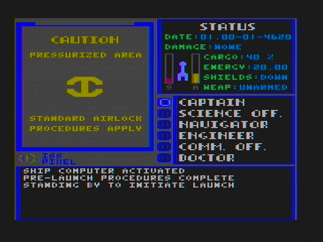 Starflight DOS Ready to launch? (CGA with composite monitor)