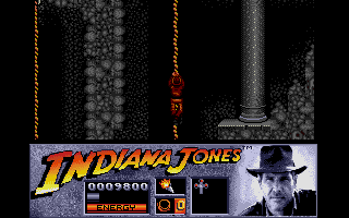 Indiana Jones and the Last Crusade: The Action Game Atari ST Climbing down into the catacombs under the castle.