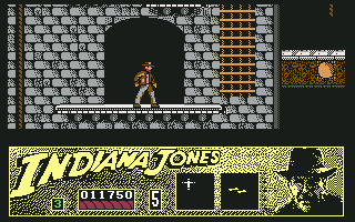 Indiana Jones and the Last Crusade: The Action Game Commodore 64 Climbing up the walls of Castle Brunwald.