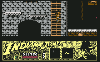 Indiana Jones and the Last Crusade: The Action Game Commodore 64 Up I go!