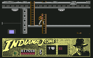 Indiana Jones and the Last Crusade: The Action Game Commodore 64 Level 3 - Aboard the Nazi Zepplin.