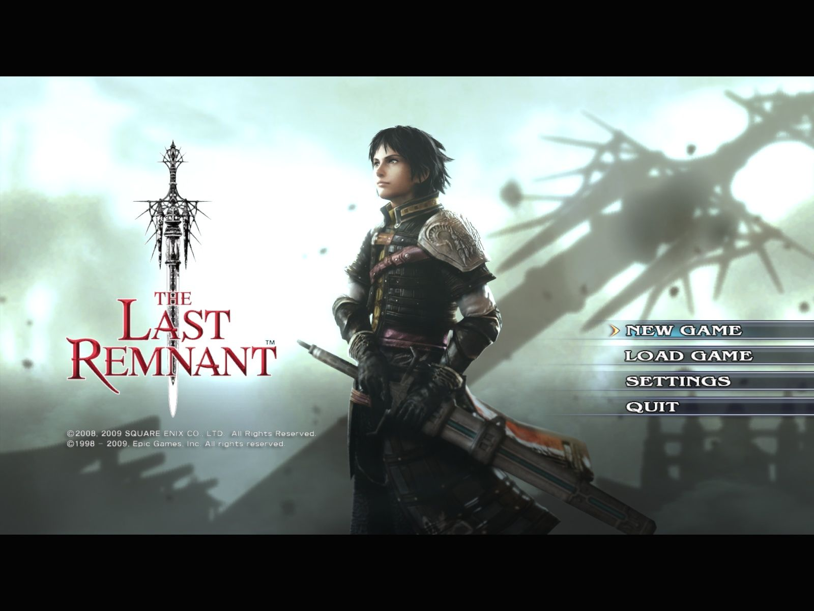 The Last Remnant Windows Main menu
