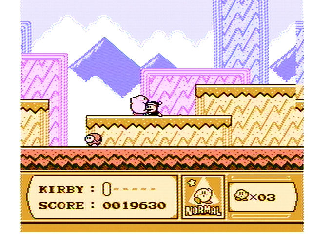 Kirby's Adventure NES Devour creatures and spit them out