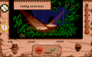 Indiana Jones and The Fate of Atlantis: The Action Game Atari ST Level 2 - The naval base.