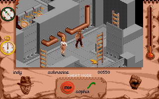 Indiana Jones and The Fate of Atlantis: The Action Game Atari ST Level 4 - Onboard the Nazi sub.