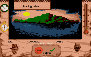 Indiana Jones and The Fate of Atlantis: The Action Game Atari ST Level 5 - The island.