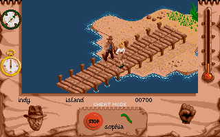 Indiana Jones and The Fate of Atlantis: The Action Game Atari ST Level 5 - On an island, Atlantis may lie beneath this island!
